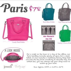 thirty-one Bags - Jewel by Thirty One Paris Purse, Candy Pink Pebble